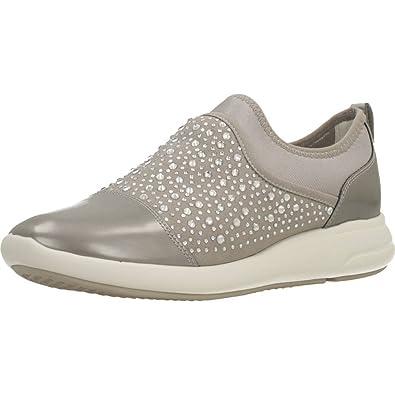 Zapatillas deportivas de mujer Geox de color gris con