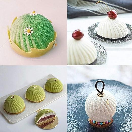 Moldes de silicona para tartas, diseño de espiral 3D, antiadherente, para hornear brownies, chocolate, trufas, pudín, gelatina, postres: Amazon.es: Hogar