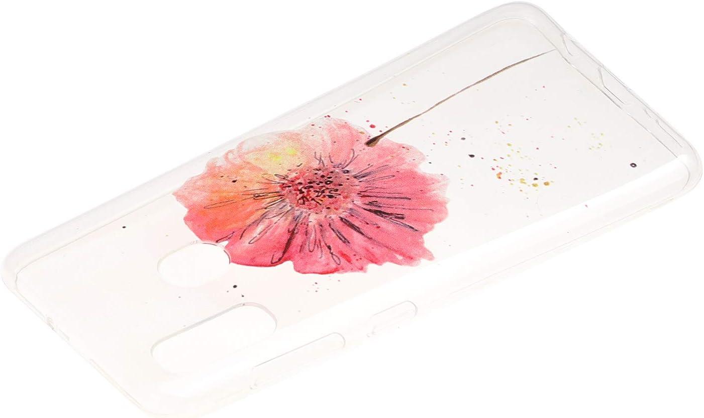 HopMore Compatible avec Coque Samsung Galaxy A20e Transparente Motif Fleur Silicone Souple Etui Coque Galaxy A20e Antichoc Mince Fine Case /Étui Housse Design pour Fille Femme Dreamcatcher Bleu