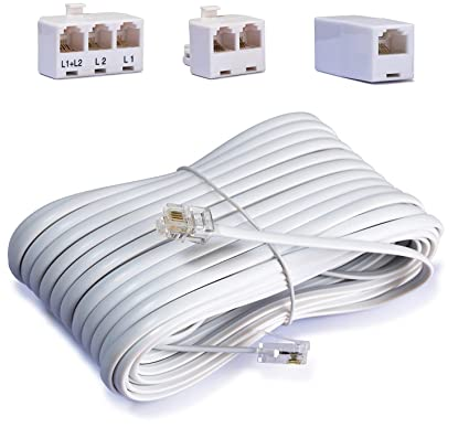 Telephone Cord Accessory Kit for Landline Phone Jack Kit, Includes; on