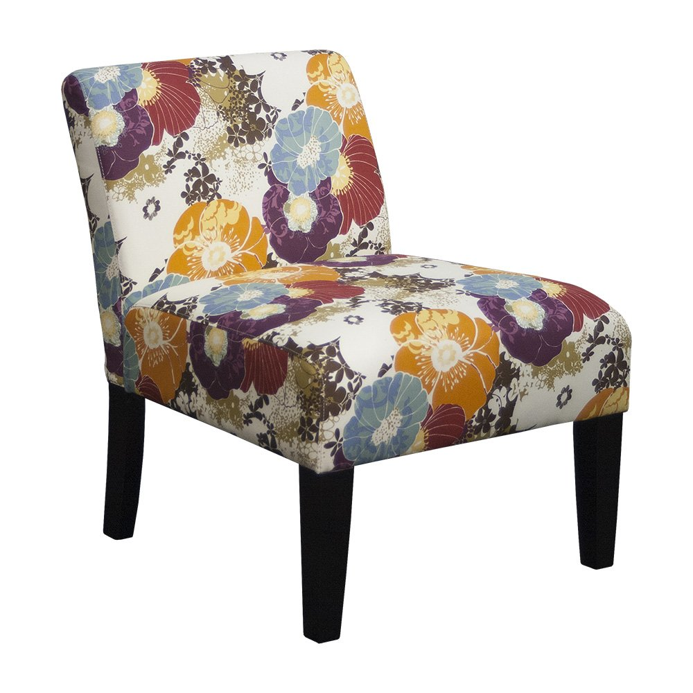 Amazon.com: Floral Graffiti Armless Slipper Accent Chair: Kitchen ...