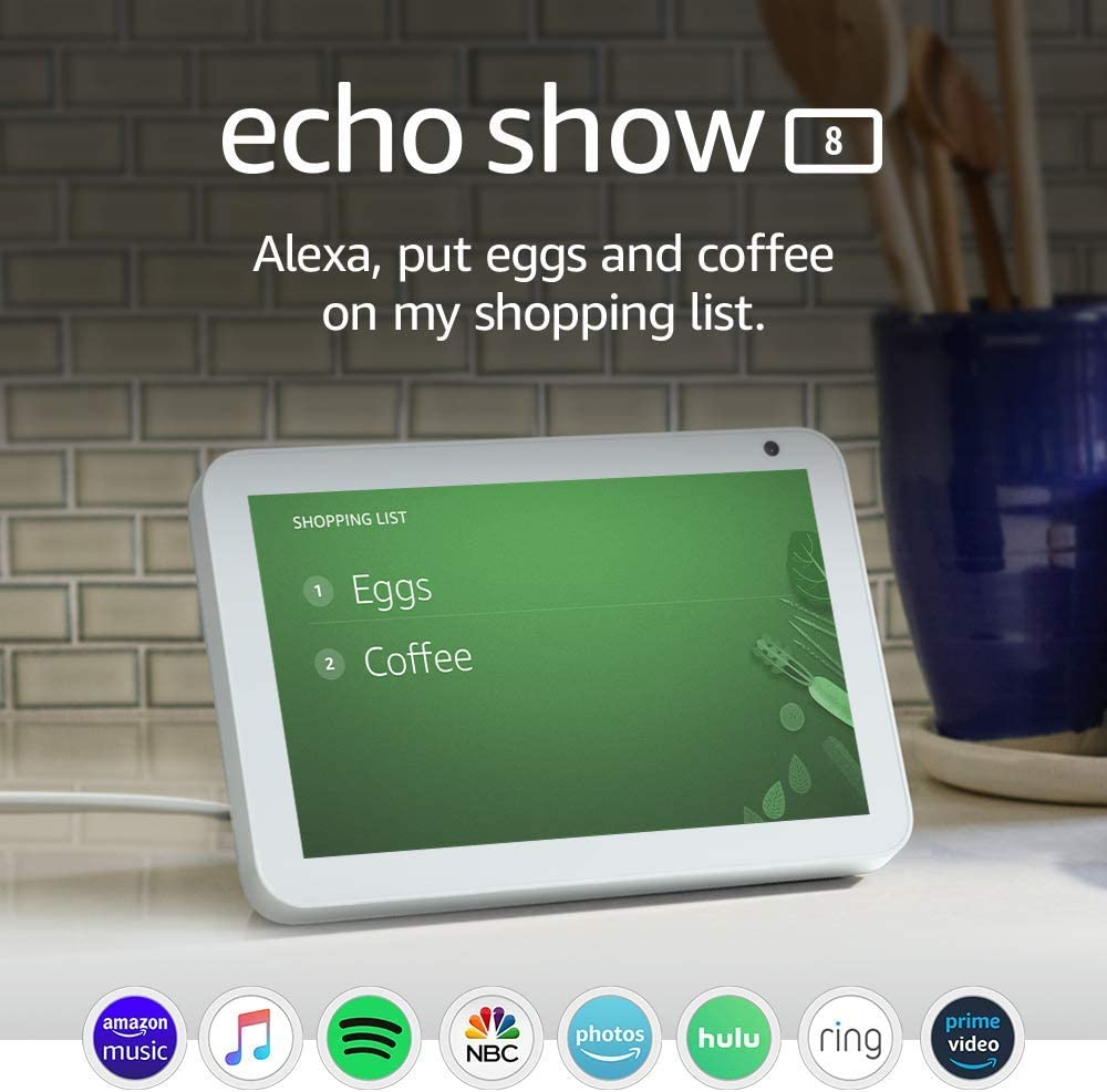 Certified Refurbished Echo Show 8 -- HD smart display with Alexa – stay connected with video calling - Sandstone