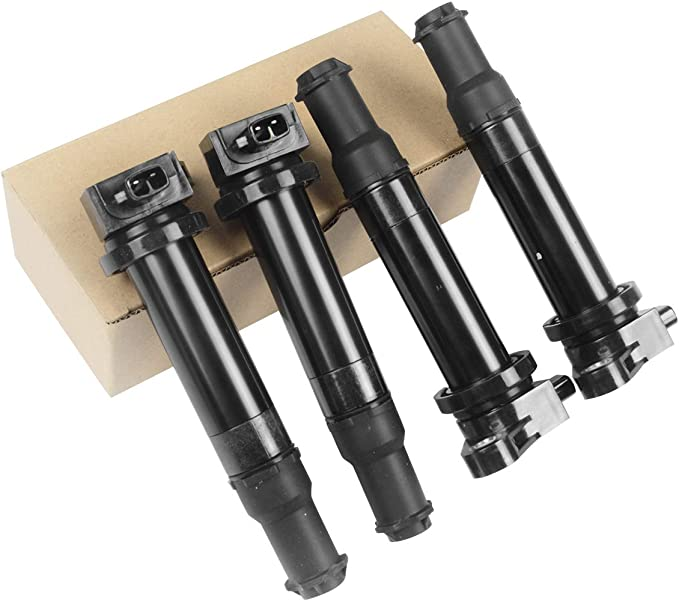 QYL Ignition Coil UF499 /& Spark Plug 7090 BKR5EGP Replacement for Kia Rio Rio5 Compatible with Accent 2008-2011 1.6L l4 Set of 4
