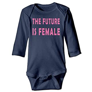Home&hat The Future is Female Feminism Long Sleeve Unisex Baby Onesies
