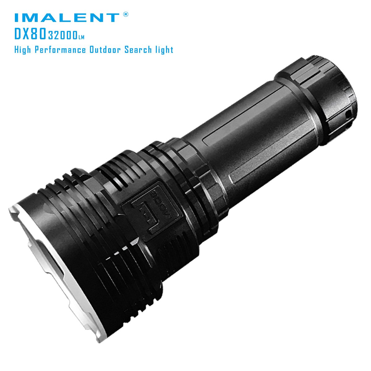 IMALENT DX80 32000 lumens with rechargeable battery pack 8pcs CREE XHP70 LEDs powerful flood LED search flashlight
