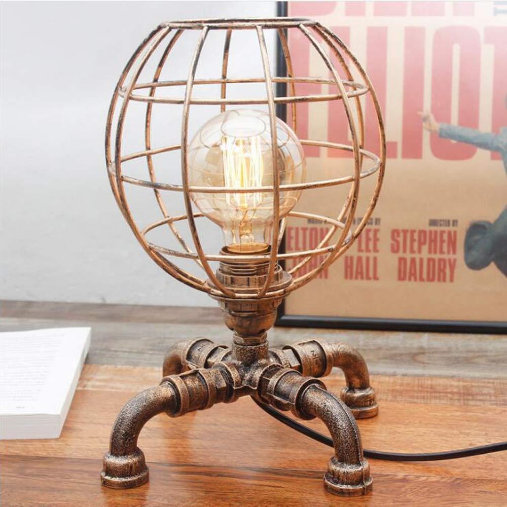 Jtivcs Steampunk Lámpara de Escritorio Industrial Retro Loft DIY ...