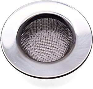 "Antrader Kitchen Sink Strainer,2.5"" Large Wide Rim Stainless Steel Mesh Basket Filter Trap, Fit Most 1.5-2.2 Inch Kitchen Drains"