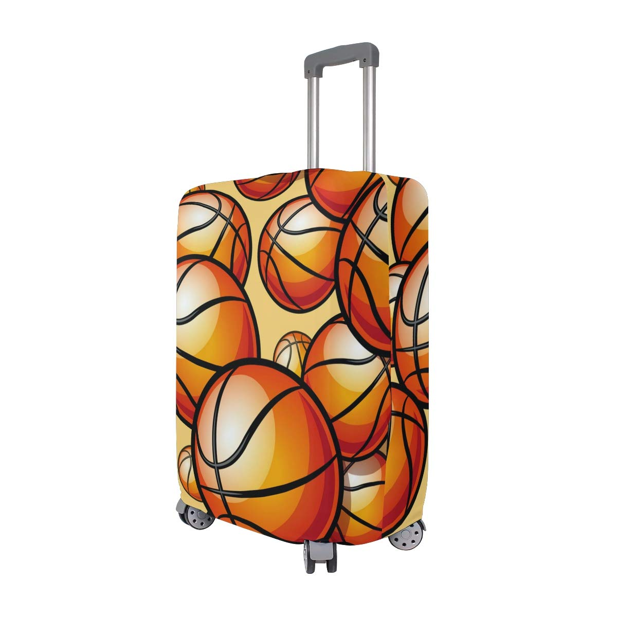 Baggage Covers Painted Sport Basketball Pattern Washable Protective Case