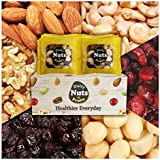 Six Healthy Mix Nuts,32 PACKS(1oz), 2 LBS (Almonds 30%, Walnuts 20%, Macadamia nuts 15%, Cashews 15%, Raisin 10%, Cranberries 10%), No Artificial, Unsalted, Natural, Premium Nuts, On the Go
