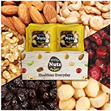 Daily Nuts Healthy Mix Nuts 24 packs (Almonds 30%, Walnuts 20%, Cashews 15%, Macadamias 15%, Cranberries 10%, Raisins 10%) No Artificial Additives, Dry-Roasted, Natural, Premium Nuts On The Go,