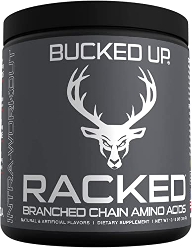 RACKED Branch Chained Amino Acids L-Carnitine, Acetyl L-Carnitine, GBB BCAAs That You Can Feel Powder, 30 Servings Pina Colada