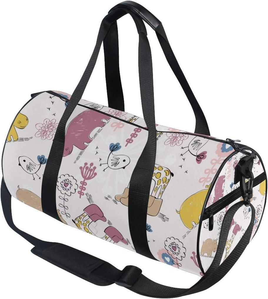 MALPLENA Giraffe Wear Shoes Drum gym duffel bag women Travel Bag