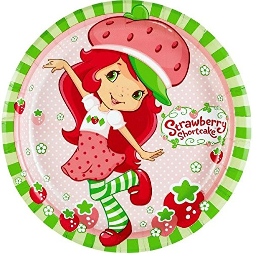 (American Greetings Strawberry Shortcake Paper Dinner Plates, 8-Count)
