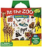 Peaceable Kingdom-At The Zoo-Reusable Sticker Tote