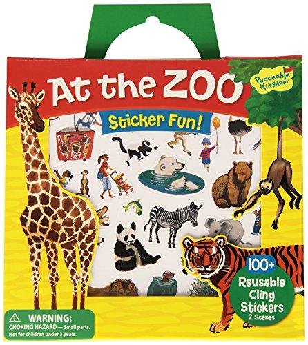 Peaceable Kingdom Press Sticker Fun! At The Zoo Reusable Sticker Tote -