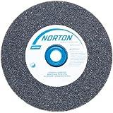 Norton Gemini Alundum Bench and Pedestal Grinding Wheel, Type 01, Round Hole, Aluminum Oxide