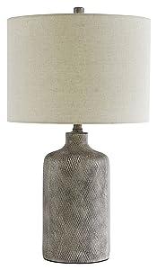Ashley Furniture Signature Design -Linus Ceramic Table Lamp - Antique Black