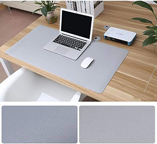 Waterproof Desk Pad Protector PU Leather Extended Gaming Mouse Pad Laptop Office Desk Mat,Ultra Thin Non Slip Writing Mat Desk Blotter Pad Comfortable Writing Surface-blueb 120x60cm 47x24inch