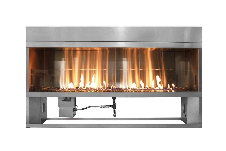 Firegear Kalea Bay Linear Outdoor Fireplace (OFP-36LTFS-N), 36-inch, Natural Gas by Firegear