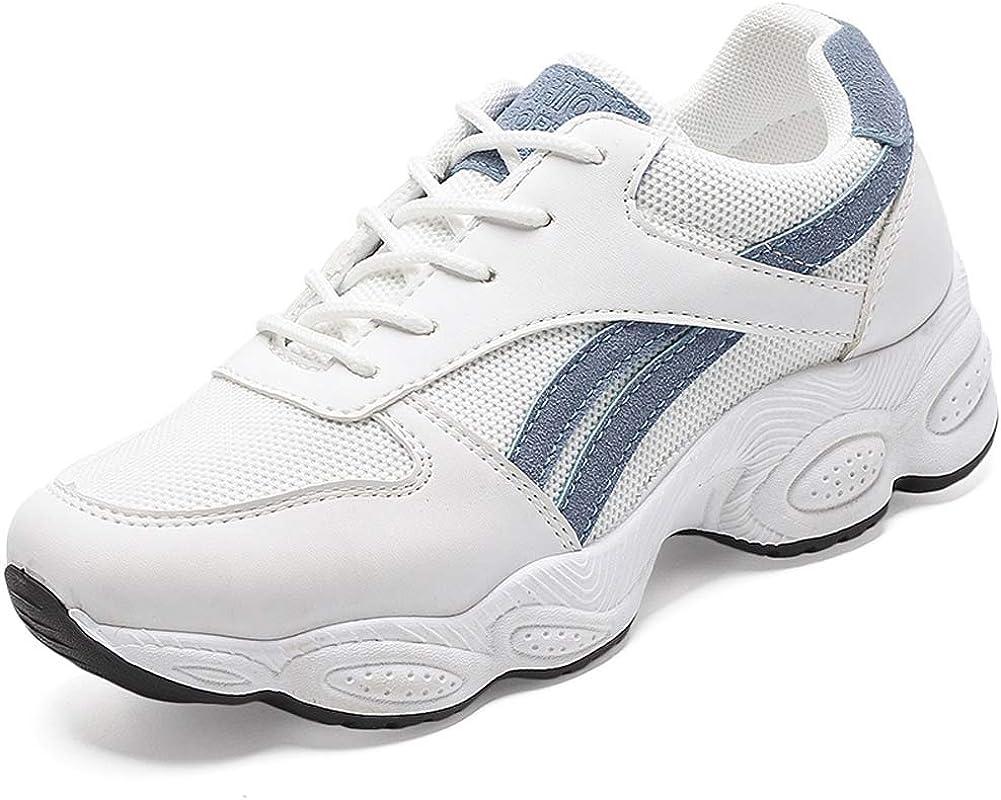 Zapatillas de Running para Mujer Zapatillas de Deporte Transpirables con Cordones Zapatillas Bajas de Malla para Mujer: Amazon.es: Zapatos y complementos