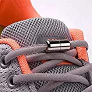 1Pair Elastic Locking Shoelaces Semicircle Shoelace Sneakers Shoe Laces Quick No Tie Shoelace Kids Adult Shoes