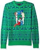 Alex Stevens Mens Drunk Elf Ugly Christmas Sweater