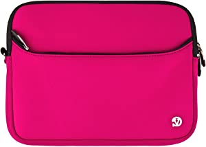 Water Resistant Neoprene Carrying Pouch Skin Cover for Acer Iconia One 10, Aspire Switch 10 E, Switch V 10, One 10, Magenta,11 inch