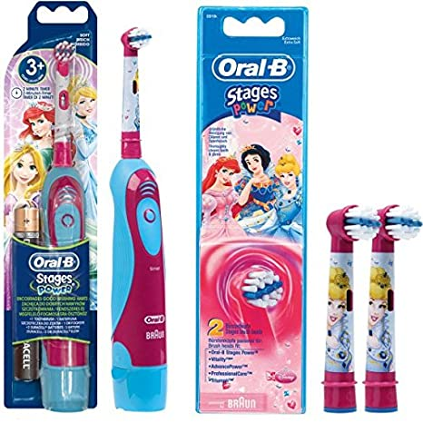 SPAR-SET: Oral-B 1 Braun Stages Power Kids batería-Zahnbürste CLS
