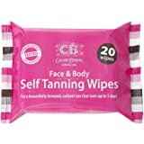 Cocoa Brown Self Tanning Wipes - Sunless Tanner Wipes for Face and Body - Long-Lasting Natural Looking Tan Wipes (20…