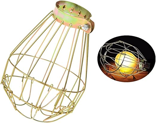 ICYANG Lamp Shades Vintage Industrial Retro Iron Wire Bulb Covers Guards Clamp Metal Lights Parts