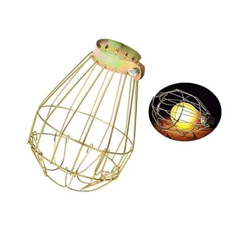 Lights & Lighting Industrial Iron Wire Bulb Guards Clamp Metal Lamp Cage Retro Trouble Light Parts