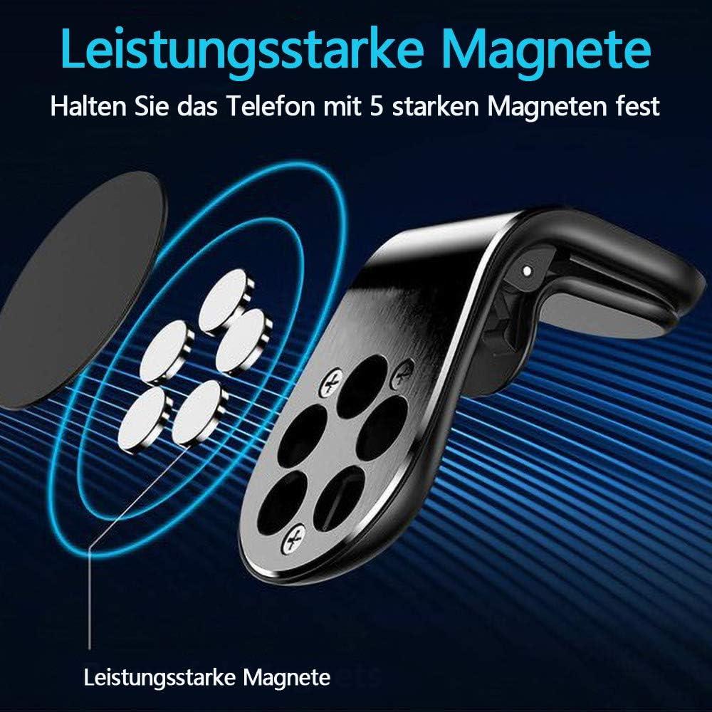 Xuefoo Handyhalter Fürs Auto Magnet Kfz Handy Halterung Lüftung Superstark Magnetkraft Mit 5 Magnete Auto Handyhalterung Für Iphone Xs Max Xr X 8 7 Plus Ipad Samsung S10 S9 Huawei Usw Elektronik