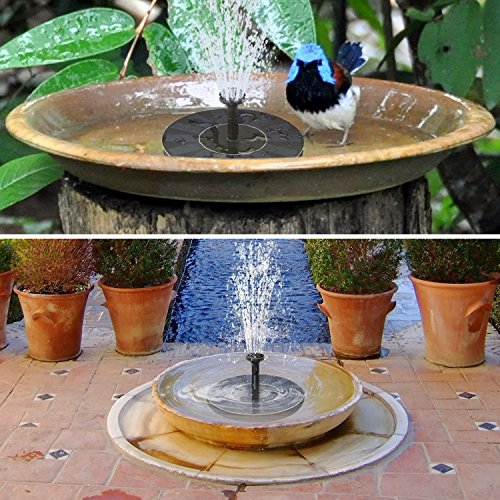 Floating Solar Powered Bird Bath Fountain Pump, Portable Outdoor Water  Fountain Pond Pump Kit For Garden, Aquarium, Pool Outdoor Decoration