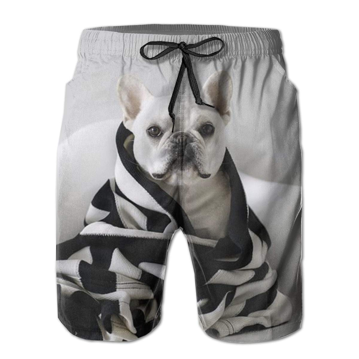 Wexzss French Bulldog Funny Summer Quick-Drying Swim Trunks Beach Shorts Cargo Shorts