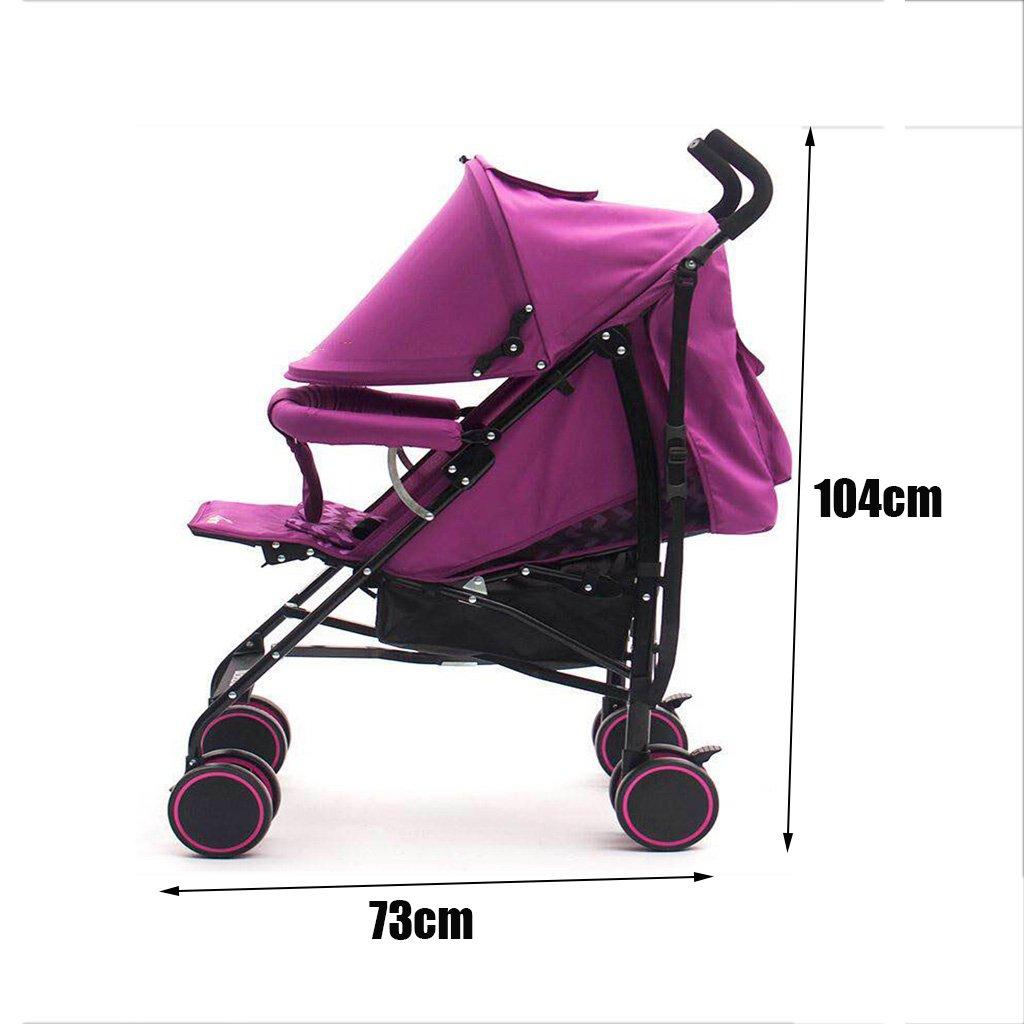 QQB &Carro Plegable Cochecito de bebé - Puede Sentarse y ...