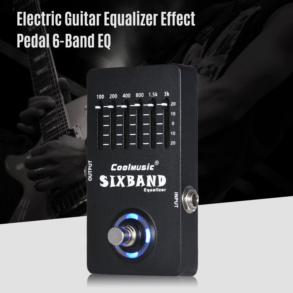 ammoon Pedal de Efecto Ecualizador Guitarra Electrica 6-Band EQ Carcasa Metálica Completa True Bypass: Amazon.es: Instrumentos musicales