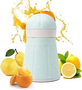 Manual Juicer Multifunctional Wheat Straw Manual Juicer Now Squeezed Orange Lemon Juice (Color : Green, Size : 8.5x11x18.2cm)