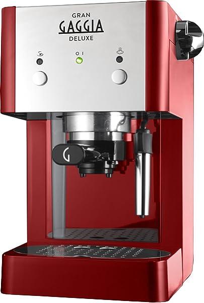 Gaggia RI8425/22 - Cafetera de espresso manual, 1 l, color rojo ...
