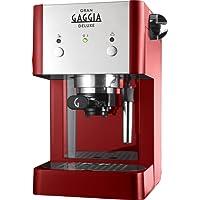 Gaggia RI8425/22 - Cafetera de espresso manual, 1 l, color rojo