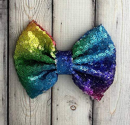 Multicolor glitter bow