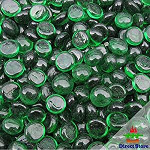 Direct store DL110 10-pound 12-14mm Green Firebeads - For Gas Fire Pits and Fireplaces (12-14mm Firebeads, Green)
