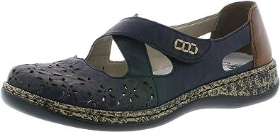 Rieker 463H4 Femme Chaussures à Enfiler,Slip on,Occasionnel,Loisir