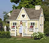 Little Cottage Company Victorian DIY Playhouse Kit, 6′ x 8′