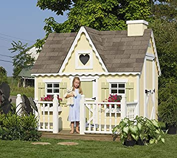 Amazon.com: Little Cottage Company Victorian DIY Playhouse Kit, 6u0027 X 8u0027:  Kitchen U0026 Dining