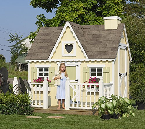 Little Cottage Company Victorian DIY Playhouse Kit, 6' x 8'