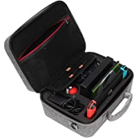 Blesiya Portable Travel Carry Case for Nintendo Switch, Waterproof Double Zipper Storage Bag for Games & Accessories Gray