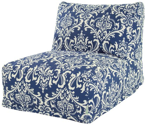 Majestic Home Goods French Quarter Bean Bag Chair Lounger, Navy Blue by Majestic Home Goods