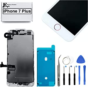 Full Screen Replacement LCD 3D Touch Assembly Front Camera Ear Speaker Home Button with Frame Adhesive and Repair Tools for iPhone 7 Plus 5.5 inch (Rose Gold)