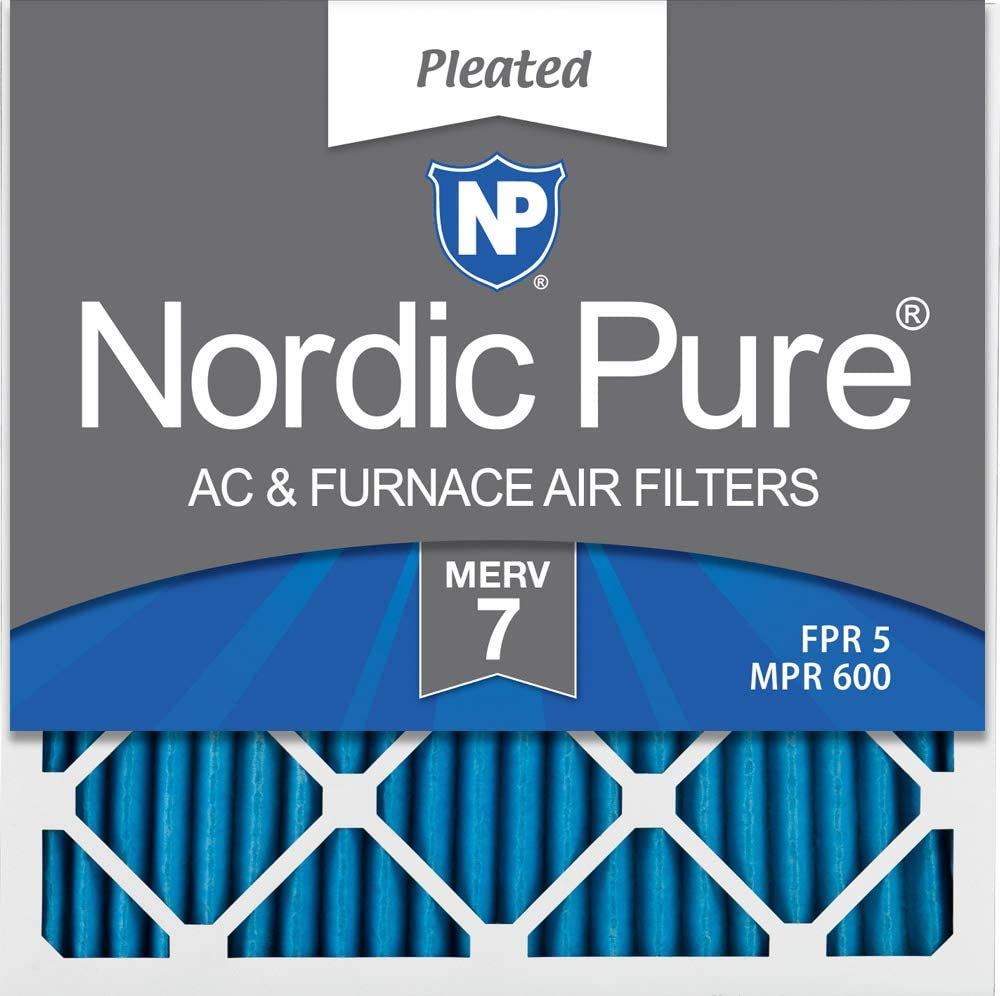 6 PACK 6 PACK Nordic Pure 24x24x1 Pure Green Eco-Friendly AC Furnace Air Filters