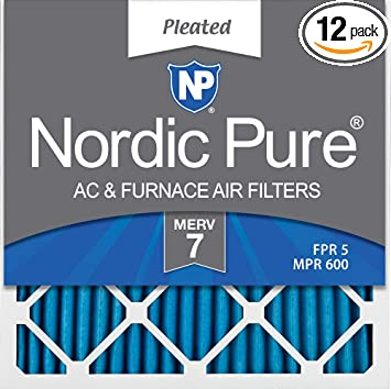 Nordic Pure 21x21x1 Exact MERV 13 Pleated AC Furnace Air Filters 6 Pack